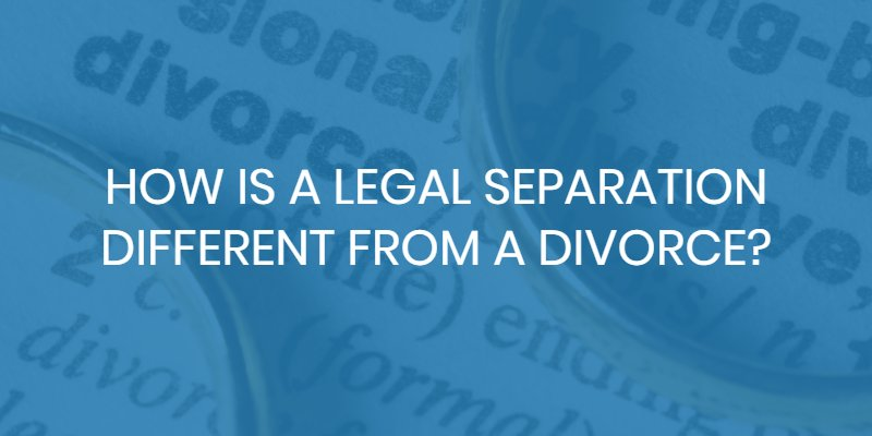 legal separation divorce difference